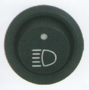 Comutator rotund Pornit/Oprit 12V cu dubla iluminare - Indicator far LED si indicator functionare